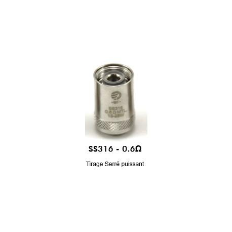 Résistance AIO - CUBIS - BF SS316 - 0.6 ohm MTL - Joyetech